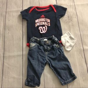 Washington Nationals Baby Outfit 0-3M